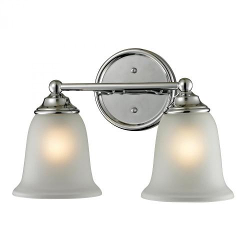 Elk Cornerstone Sudbury 2 Light Bathbar In Chrome 5602Bb/30