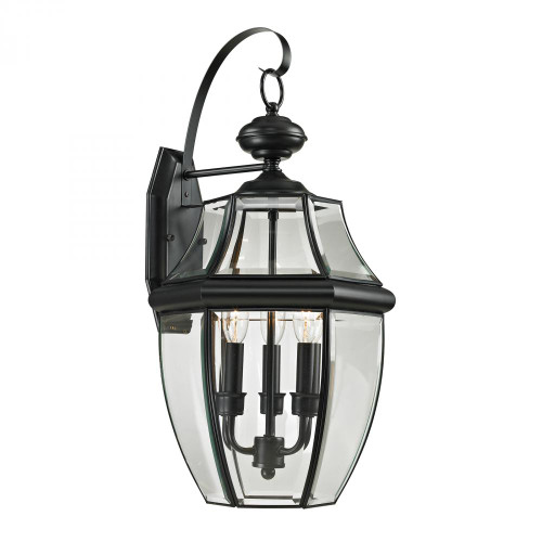 Elk Cornerstone Ashford 3 Light Exterior Coach Lantern In Black 8603Ew/60
