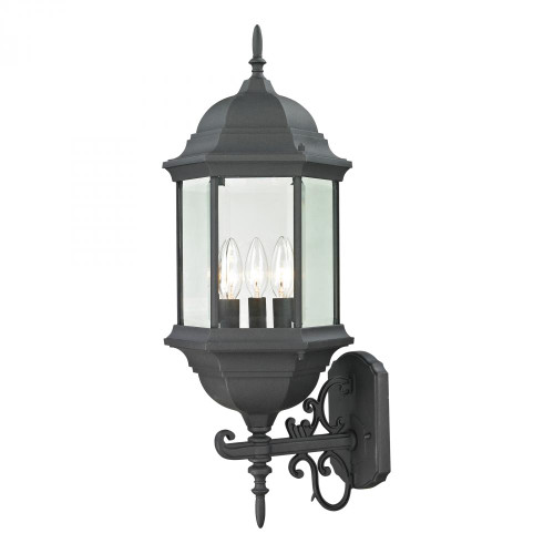 Elk Cornerstone Spring Lake 3 Light Exterior Coach Lantern In Matte Black 8603Ew/65