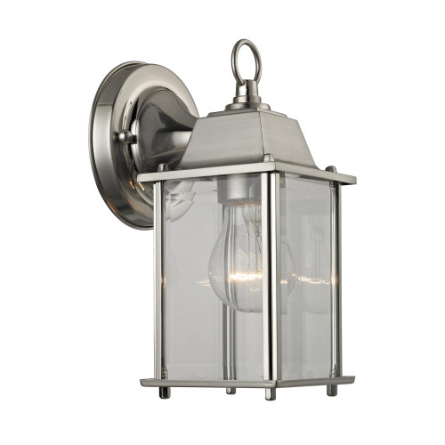 Elk Cornerstone 1 Light Outdoor Wall Sconce In Brushed Nickel 9231Ew/80