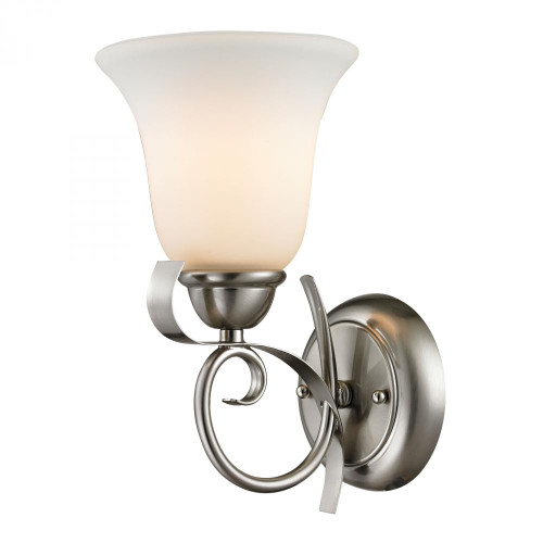 Elk Cornerstone Brighton 1 Light Wall Sconce In Brushed Nickel 1001Ws/20