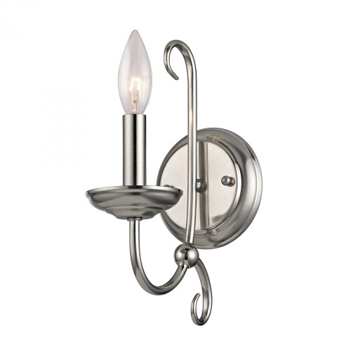 Elk Cornerstone Williamsport 1 Light Wall Scone In Brushed Nickel 1501Ws/20