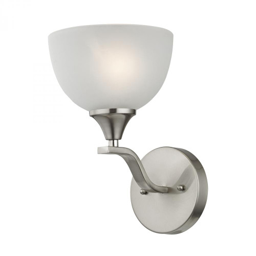 Elk Cornerstone Bristol Lane 1 Light Wall Scone In Brushed Nickel 2101Ws/20