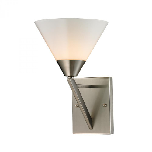 Elk Cornerstone Tribecca 1 Light Wall Scone In Brushed Nickel 2451Ws/20