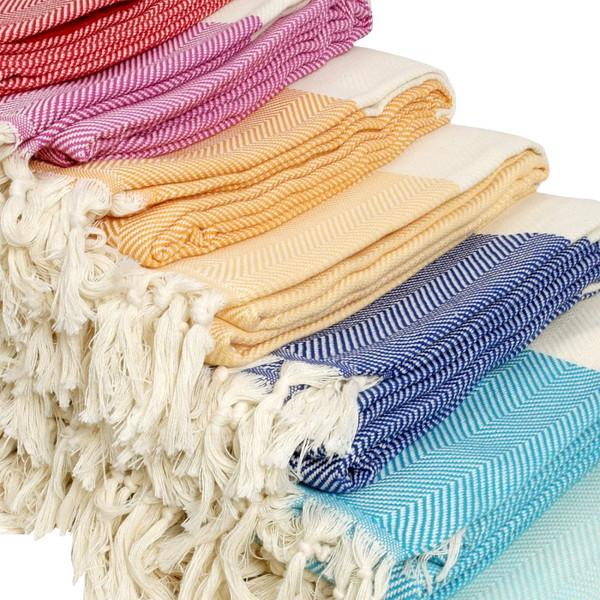 Royal Blue Zig Zag XL Turkish Blanket