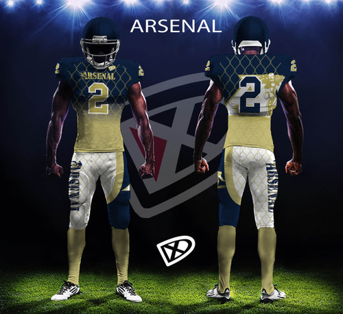 Fully Custom Game Football Uniforms Design Examples