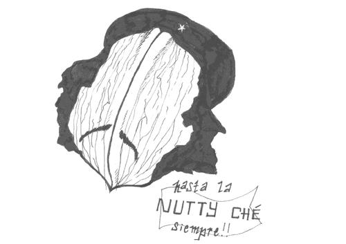   Nutty Ché : broodje belegd met knolseldersalade, belegen kaas, notenmengeling en rucola.  