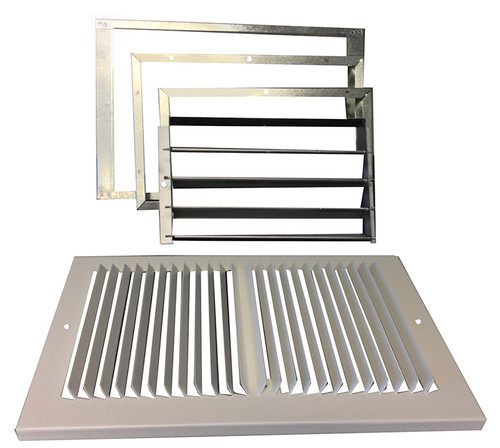 """Williams Furnace Company 6802 Rear-Outlet Register with 1"""" Boot for Forsaire Top-Vent Furnace"""