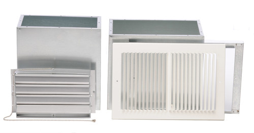 Williams Furnace Company 6801 Rear-Outlet Register for Forsaire Top-Vent Furnace
