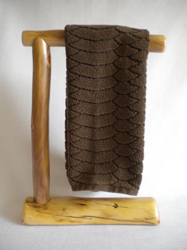 Countertop Log Hand Towel Holder (Clear Finish)