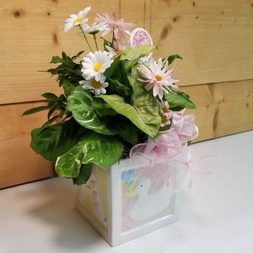 Precious Baby Planter (SCF18BB10) Savilles Country Florist, Orchard Park, NY