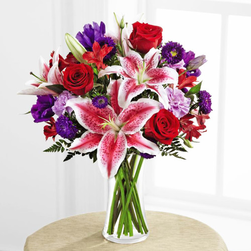 Stunning Beauty Bouquet by Savilles Country Florist. Flower delivery to Orchard Park, Hamburg, West Seneca, East Aurora, Buffalo, NY and surrounding suburbs.