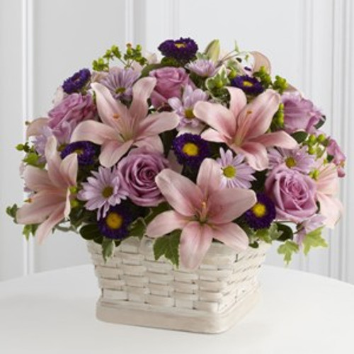 The Loving Sympathy Basket by Savilles Country Florist. Flower delivery to Orchard Park, Hamburg, West Seneca, East Aurora, Buffalo, NY and surrounding suburbs.