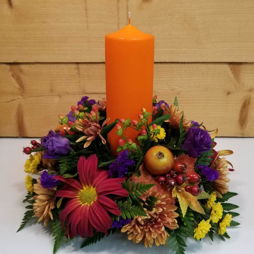 Harvest Sunset (SCF18F22) by Savilles Country Florist.  Flower and Plant delivery to Orchard Park, NY and the surrounding area including same day delivery to Hamburg, West Seneca, East Aurora, Blasdell and Buffalo NY