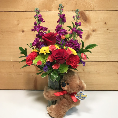 Bear Hug Bouquet - SCF18M05 Delivering Flowers throughout WNY