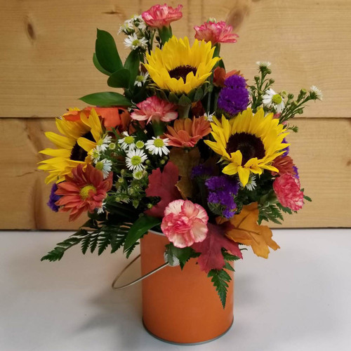 Color Me Autumn (SCF18F02) by Savilles Country Florist.  Flower and Plant delivery to Orchard Park, NY and the surrounding area including same day delivery to Hamburg, West Seneca, East Aurora, Blasdell and Buffalo NY