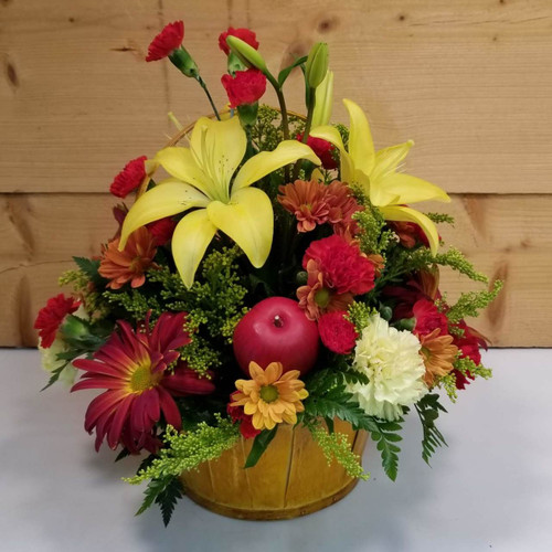 Fruitful Wishes (SCF18F16) by Savilles Country Florist.  Flower and Plant delivery to Orchard Park, NY and the surrounding area including same day delivery to Hamburg, West Seneca, East Aurora, Blasdell and Buffalo NY