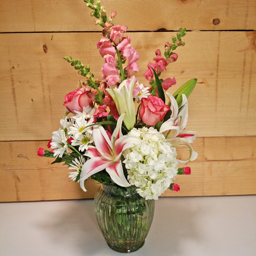 Blooms of Beauty Bouquet by Savilles Country Florist. Flower delivery to Orchard Park, Hamburg, West Seneca, East Aurora, Buffalo, NY and surrounding suburbs.