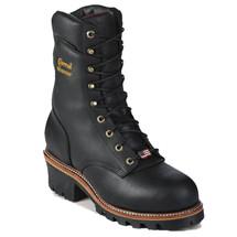 Chippewa 25411 USA Soft Toe Non-Insulated Black Super Logger Boots