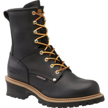 Carolina CA9823 Steel Toe Waterproof Black Logger Boots