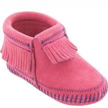 Minnetonka Riley Bootie Pink Toddler