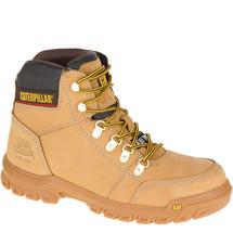 CAT Outline Steel Toe Slip Resistant Work Boots