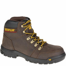 "CAT P90803 MEN'S OUTLINE 6"" STEEL TOE SEAL BROWN WORK BOOT"