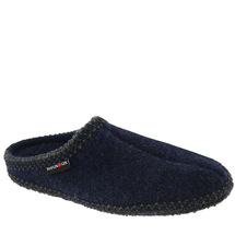 Haflinger AS-20 Men's Wool Slipper Navy