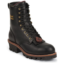 Chippewa 73050 Steel Toe Insulated Waterproof Black Oiled Logger Boots