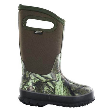 Bogs Kid's Classic High Handle Mossy Oak Camo Boots