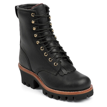 Chippewa Women's L73045 Soft Toe Insulated Black Oiled Logger Boots