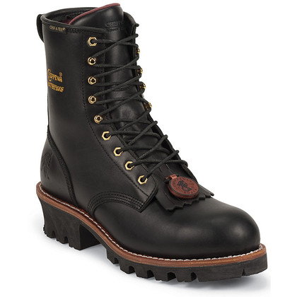 Chippewa Women's L73050 Steel Toe Insulated Black Oiled Logger Boots