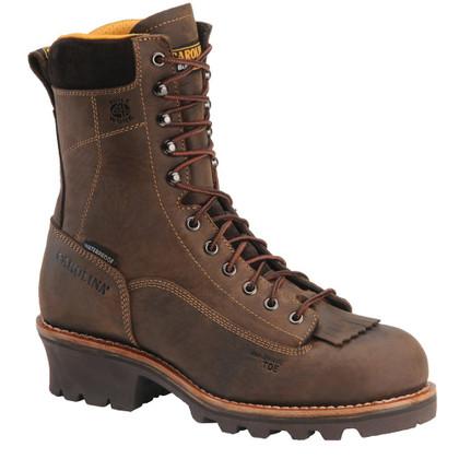 Carolina CA7522 Birch Composite Toe Waterproof Lace-to-Toe Logger Boots
