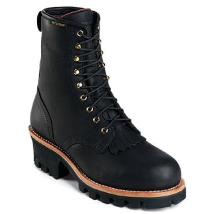 Chippewa 73020 Steel Toe Non-Insulated Black Logger Boots