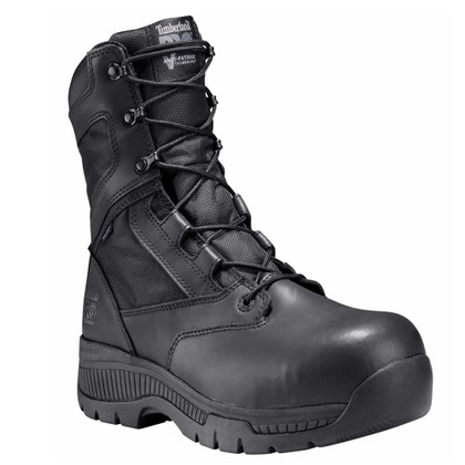 """Timberland Pro #1168A001 Valor 8"""" Composite Toe Side Zip Tactical Police Duty Boots"""