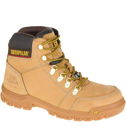 CAT Outline Steel Toe Non-Insulated Slip-Resistant Work Boots