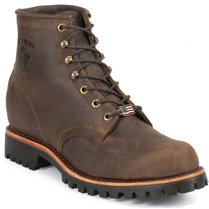 Chippewa 20080 USA Soft Toe Non-Insulated Chocolate Apache Work Boots