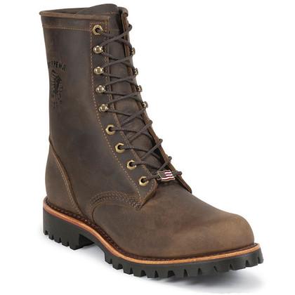 Chippewa 20086 USA Steel Toe Non-Insulated Chocolate Apache Work Boots