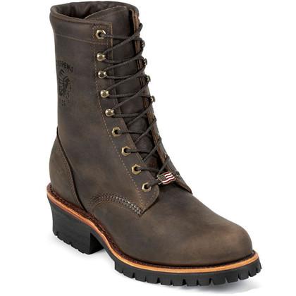 Chippewa 20091 USA Steel Toe Non-Insulated Chocolate Apache Logger Boots