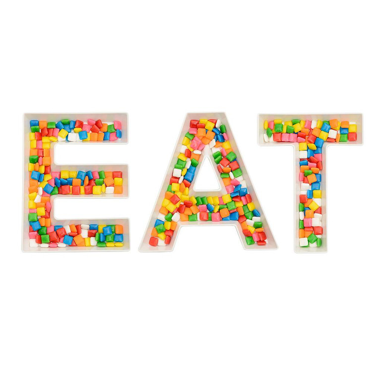 EAT WORD SNACK DISH