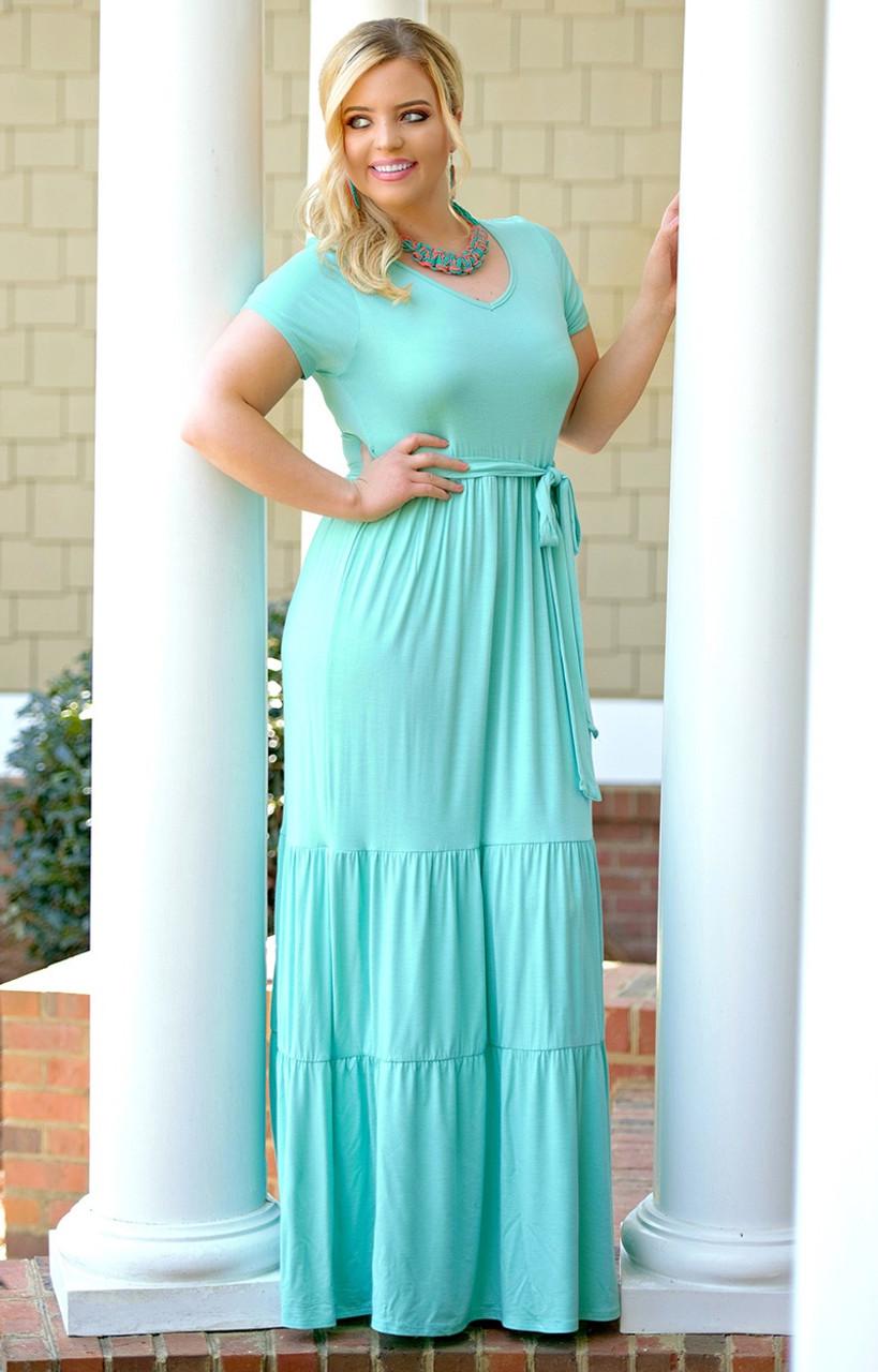 Take Me Away Maxi Dress - Mint - Perfectly Priscilla Boutique