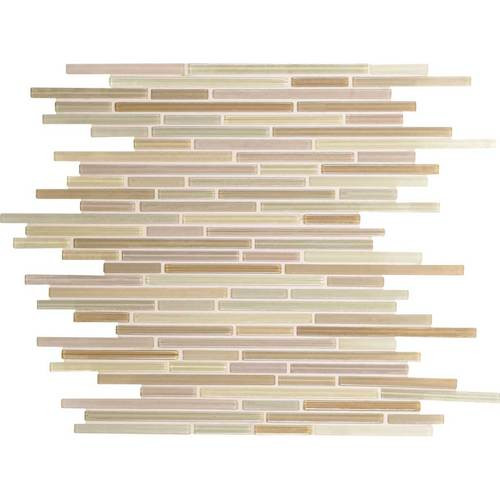 Daltile Caprice 5/16 Interlocking Vanilla Blend Glass Mosaic