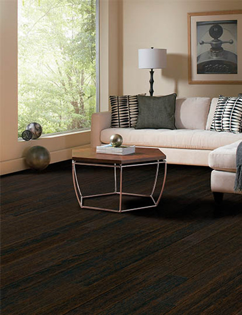 """Home Legend .6mm Collection Oak Coffee HDF 5"""" x up to 47 1/4"""" Hardwood"""