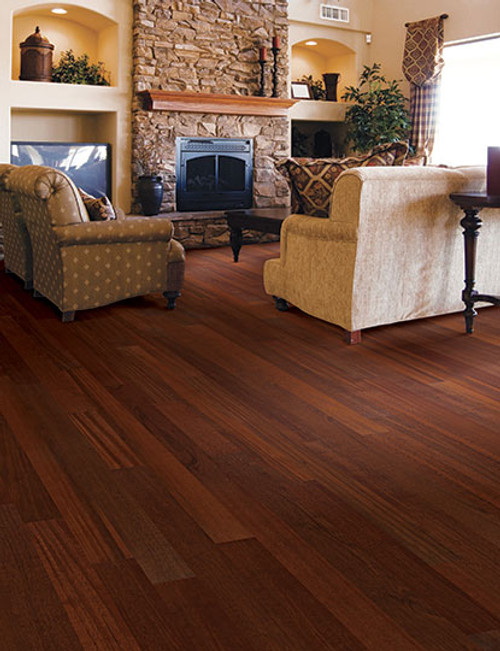 "Home Legend Exotic Collection Brazilian Cherry HDF 3 5/8"" x 47 1/4"" Hardwood"