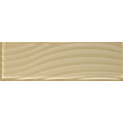 "American Olean Color Appeal Abstracts Cloud Cream 4"" x 12"" Glass Tile"