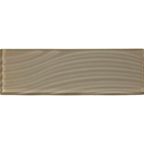 """American Olean Color Appeal Abstracts Plaza Taupe 4"""" x 12"""" Glass Tile"""