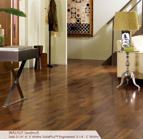 """Somerset Character Collection Engineered Plank Walnut Natural 5"""""""