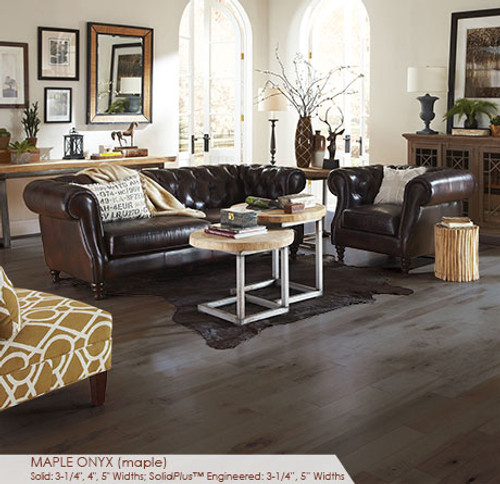 Somerset Character Collection Engineered Plank Maple Onyx 5""