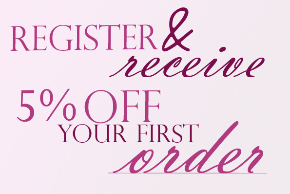 Register now for 5% off your first ladies clothing order