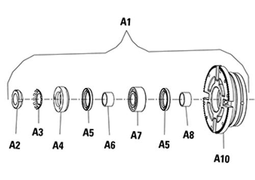 Ball Bearing (A7) for Viking PN. 2-055-012-375-00 Viking Pump Modle H & HL